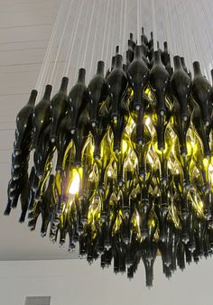 Recycled materials Chandelier by Heath Nash - Design Network Africa. South African Design.