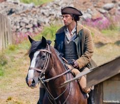 Via  Poldark Photos @PoldarkPhotos - Aidan Turner on horseback as Ross #Poldark @TimMPhoto