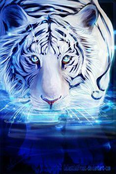 Fantasy art - Page 46 - Animal Spirit Guides - Galleries Anime Animals, Animals And Pets, Cute Animals, Tiger Wallpaper, Animal Wallpaper, Big Cats Art, Cat Art, Animal Spirit Guides, Spirit Animal