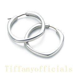 Tiffany Outlet Cushion Hoop Earrings