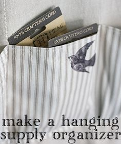 The Graphics Fairy - DIY: Stylish Storage: Hanging Organizer. Photo and project by Gina Luker.