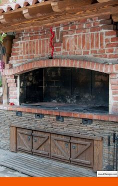 "Receive fantastic ideas on ""built in grill patio"". They are accessible for you on our internet site. Outdoor Kitchen Patio, Outdoor Kitchen Design, Outdoor Fire, Outdoor Rooms, Built In Braai, Built In Grill, Barbecue Four A Pizza, Brick Bbq, Diy Grill"