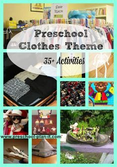 A Clothes Theme for Preschool helps preschoolers learn about colors, matching, and textures as well as their developing self-help skill of picking out their own clothing!  This  page includes preschool lesson plans, activities and Interest Learning Center ideas for your Preschool Classroom!