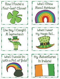 St. Patrick's Day Writing Kindergarten Lesson Plan
