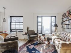 How To Make a One-Bedroom Apartment Work for a Family of 4 — Sweeten | Apartment Therapy