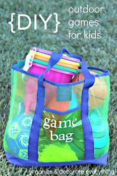 DIY Outdoor Games Bag for Kids - 68 Best DIY Outdoor Games For Summer & Spring - DIY & Crafts