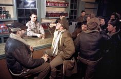 American and Canadian Airmen relax at the PX at a joint Royal Canadian Air Force and United States Army Air Force base in December 1942 in Goose Bay, Labrador, Canada. (Photo by Ivan Dmitri/Michael Ochs Archives/Getty Images)