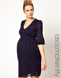 Enlarge ASOS Maternity Tulip Dress With Ruching