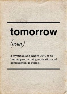 I'll think of it tomorrow, after all... tomorrow is another day ツ