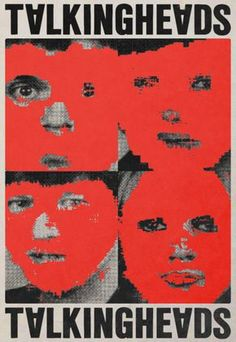Once in a Lifetime - Talking Heads, 1980 Rock Posters, Band Posters, Graphic Design Posters, Graphic Design Inspiration, Vintage Music Posters, Retro Posters, Punk Poster, Music Artwork, Punk Art