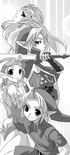 mangá Zelda ocarina