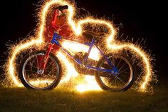 How to do a long exposure shot with sparklers
