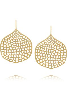 Chan Luu|Cutout gold-plated earrings|NET-A-PORTER.COM $150