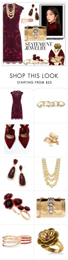 """""""#PolyPresents: Statement Jewelry"""" by delfina716 ❤ liked on Polyvore featuring Karen Millen, GUESS, Esme Vie, Kendra Scott, Marco Bicego, Futuro Remoto, GEDEBE, Melissa Kaye, Allurez and contestentry"""