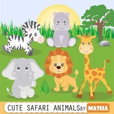 He encontrado este interesante anuncio de Etsy en https://www.etsy.com/es/listing/210947838/safari-animals-clipart-animals-clipart