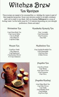 I might have to try the headache remedy tea...