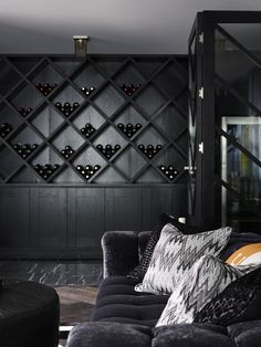 This. But with wine instead of balls. Greg Natale on reinventing the modern man cave | via Interiors Addict