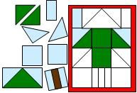 Christmas Tree Geometric Puzzle for a Christmas Theme from Making Learning Fun.