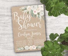 Gorgeous rustic baby shower ideas with decorations you don't have to make yourself! Get inspired by these shabby chic baby shower decorations. Idee Baby Shower, Shabby Chic Baby Shower, Baby Shower Games, Baby Shower Parties, Baby Boy Shower, Baby Showers, Shower Party, Bridal Shower, Baby Shower Centerpieces