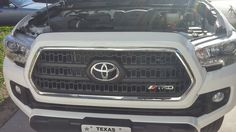 2016 toyota tacoma Plasti dipped trd grill with trd logo