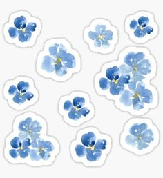 blue flower wallpaper Take your journaling to a whole new level with stickers! / Stickers can change your journaling experience for the better! / These cute little blue flowers a Tumblr Stickers, Phone Stickers, Journal Stickers, Cute Stickers, Planner Stickers, Bullet Journal With Stickers, Bullet Stickers, Diy Sticker, Sticker Design