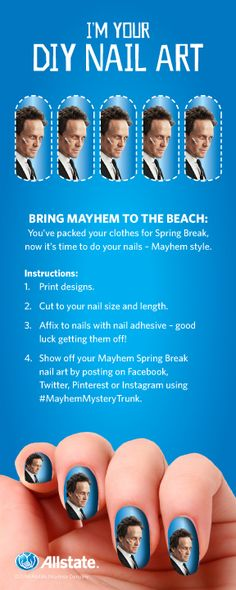 I'm bringing Mayhem to the beach…with the Mayhem Nail Art I found. See what you can find! #MayhemMysteryTrunk