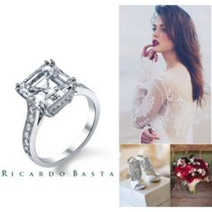#wedding #inspiration #engagement #proposal #weddingring #diamonds #ring #jewelry #glamour #luxury #jewels #ricardobastafinejewelry #ricardobastaengagement #polyvore #collage