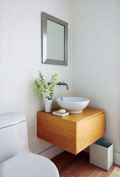 cuarto de baño moderno en pocos metros