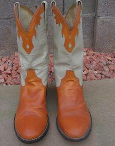 Vintage Cowboy Boots Western Cowtown 9 1/2 D 9.5