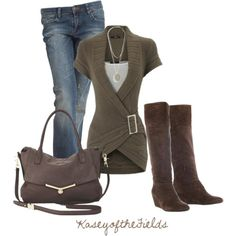 Love this look. Sassy boots:)