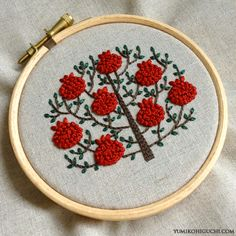 Pomegranate tree by yumiko higuchi
