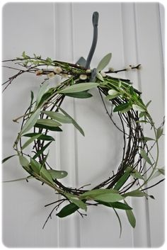 olive-branch-wreath-wedding-ceremony-decorations - Once Wed Decoration Christmas, Noel Christmas, Winter Christmas, Winter Holidays, All Things Christmas, Christmas Wreaths, Christmas Crafts, Xmas, Holiday Decor