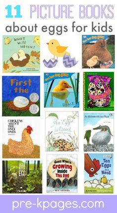 Books About Eggs For Preschool And Kindergarten