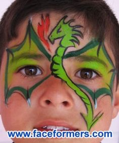 dragon face painting - Google Search