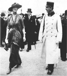 Polo match in Vienna on May 18, 1913 countess Sophie Draskovich and Prince Ferdinand von Auersperg