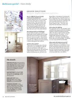 Classic bathroom in a Victorian home featuring Drummonds' Humber bath and double vanity basin in Arabescato marble drummonds-uk.com Beautiful Kitchens June-July 2015