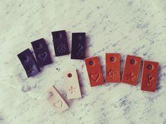 Handgemaakte leren labels - Handmade leather labels - leukelabels.etsy.com