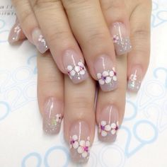 31 best nails ideas for spring 2019 00032 31 best nails ideas for spring 2019 00032 Nail Art Designs, French Nail Designs, Nail Designs Spring, Pedicure Nail Art, Nail Manicure, Hot Nails, Hair And Nails, Spring Nails, Summer Nails
