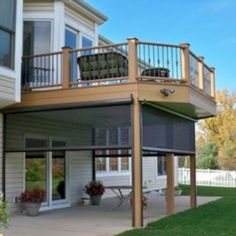 Go ahead and browse through our gallery, get inspired, pin and save the deck patio designs for small yards you like best! Our team has found some great examples of deck patio designs for small yards which we would like to share. Patio Under Decks, Decks And Porches, Small Patio, Under Deck Landscaping, Under Deck Ceiling, Patio Deck Designs, Patio Design, Patio Ideas, Porch Ideas