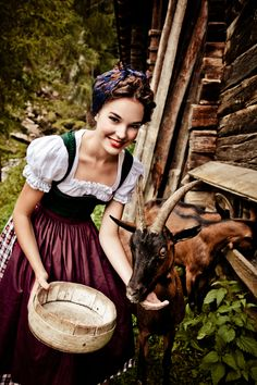 The Dirndl has evolved from its humble origins as the work-garb of farmers . #austria