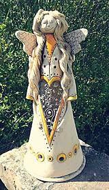 Svietidlá a sviečky - Anjel svietnik s cínom II. - 9447031_