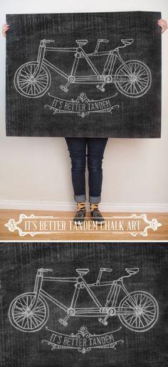 $5 It's Better Tandem Chalk Art at Caravanshoppe.com