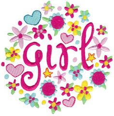 Embroidery | Free Machine Embroidery Designs | Bunnycup Embroidery | Baby Girl Sentiments