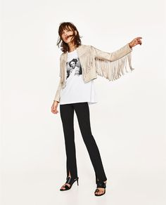 I can't help it, but I just love this jacket!  ZARA - WOMAN - FAUX SUEDE JACKET WITH FRINGE