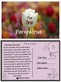 A Post Card from Mother Nature: The One Perspective Mother Nature, Perspective, Post Card, Cards, Quotes, Quotations, Perspective Photography, Maps, Playing Cards