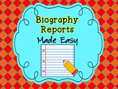 Biography projects made simple - $