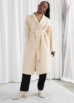 Belted Wool Blend Coat - Beige - Jackets & Coats - & Other Stories