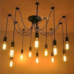WinSoon Modern 12 Heads Pendant Ceiling Lamp Lighting Without Bulb for kitchen island Living Room Lights Fixture *** More info could be found at the image url. (Note:Amazon affiliate link) #LivingRoom