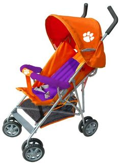Clemson baby stroller - Fan Creations Clemson University Deluxe Umbrella Stroller in Orange and Purple | Best Baby Stroller Reviews