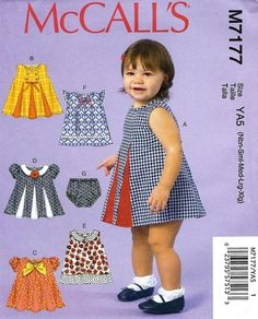 BABY GIRL  PATTERN / Make Dress  Panties  by WhatCameFirst on Etsy
